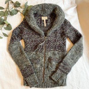 Aritzia Wilfred Free Erable Knit Zip Up Sweater